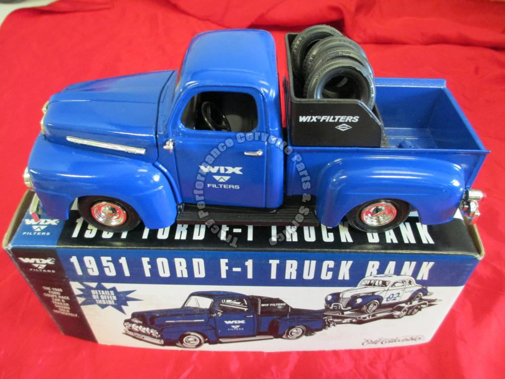 1951 Ford F-1 Pickup Truck Locking Die Cast Bank Ertl Collectible F250 WIX 99026