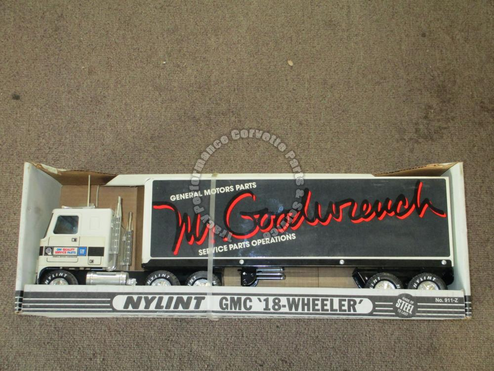 Nylint GMC 18 Wheeler 911-Z Mr Goodwrench Service Parts Steel Semi Cab & Trailer