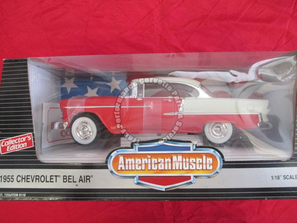 1955 Chevrolet Chevy Bel Air Coupe 7255 8110 American Muscle Gypsy Red Die-Cast