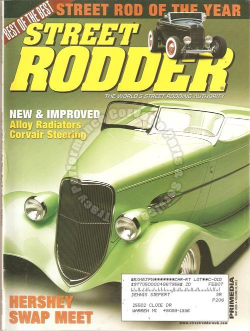May 2005 Street Rodder Hershey Street Rod of the Year New England in the '50s