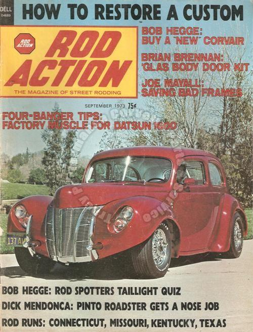 September 1973 Rod Action Corvair Lives Independent Willys Tennessee T Texas Tub