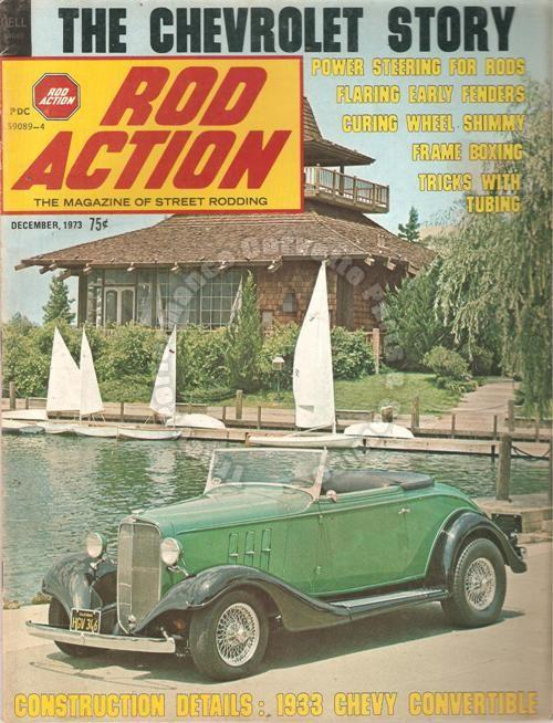 December 1973 Rod Action The Chevrolet Story 33 Chevy Conv Chevrolet, 1911-1954