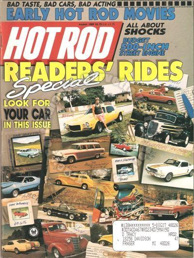 August 1989 Hot Rod Readers Rides Special The Spider John Mills' blown 67 Camaro