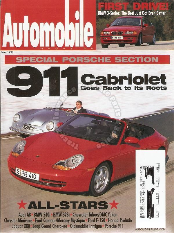 May 1998 Automobile 1999 BMW 328i Special Porsche Section 911 Cabriolet 956/962