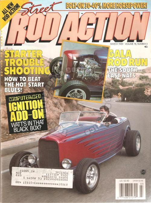 March 1989 Rod Action 1934 Vicky & Cabriolet Southeast Nationals Brizio & B & M
