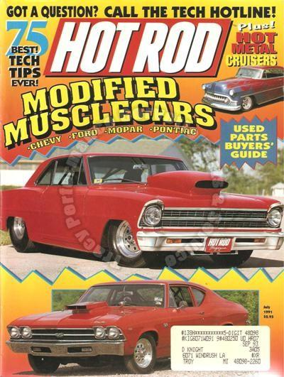 July 1991 Hot Rod 1932 Phaeton with Porsche 928 power Red 1967 Nova 1933 Ford