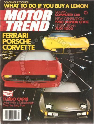 December 1979 Motor Trend 57 58 59 Ford Skyliners Jody Scheckter Ford F-150