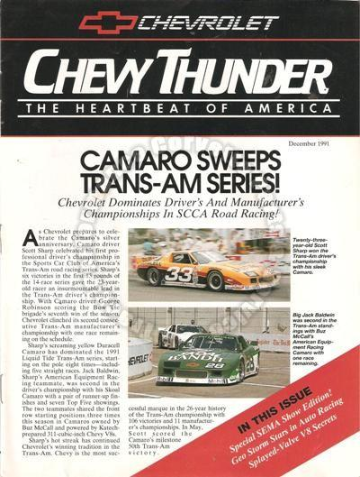 December 1991 Chevy Thunder Indy V8 Expansion Camaro Sweeps Trans-Am Series!