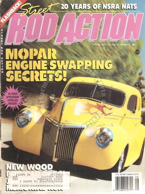 August 1989 Rod Action James Dean 20 Years of NSRA Nats One-Family Roadster