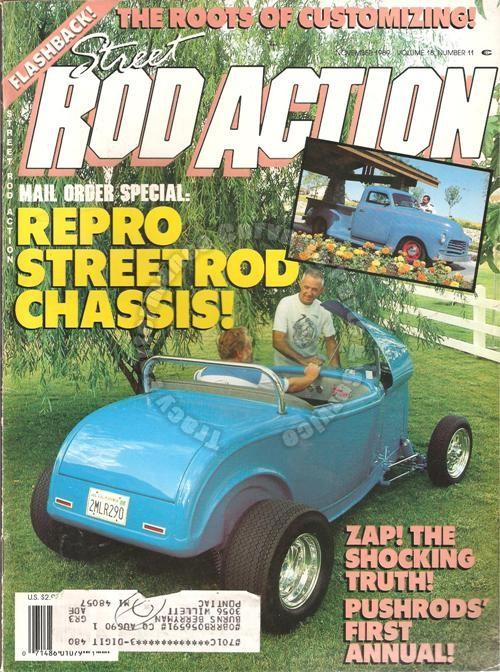 November 1989 Rod Action Perry's Vicky Pushrods' First Annual Rod Run 89