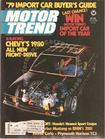 April 1979 Motor Trend Plymouth Horizon TC3 Mustang Turbo vs BMW 320i Prelude