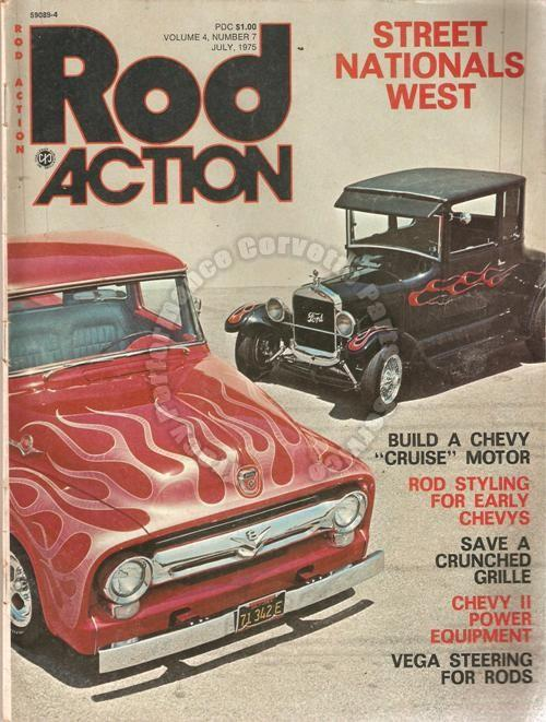 July 1975 Rod Action Street Nationals West Chevy V8 Classic Dream Rods 46 Chevy