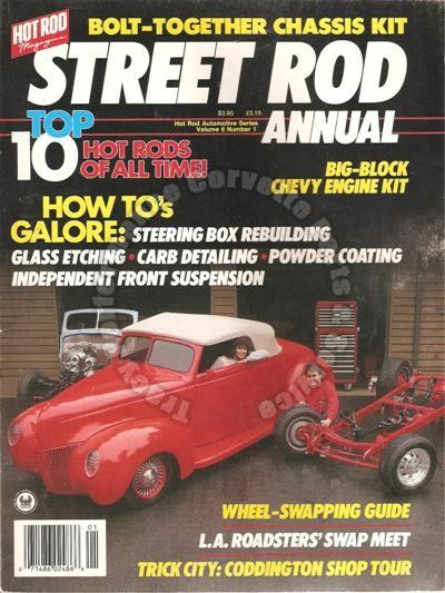 1988 Hot Rod Automotive Series Street Rod Annual V 6 #1 Rich Smith's '34 Chevy