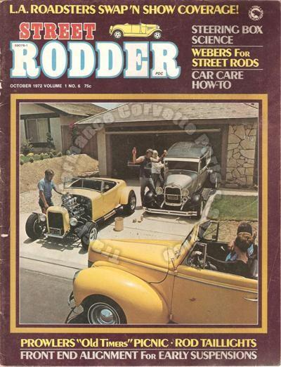 October 1972 Street Rodder 10th Annual Chino Car Show Prowlers Old Timers Picnic