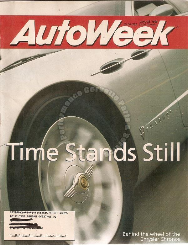 June 22, 1998 Autoweek 1929 Cord L-29 Cadillac Seville STS Chrysler Chronos
