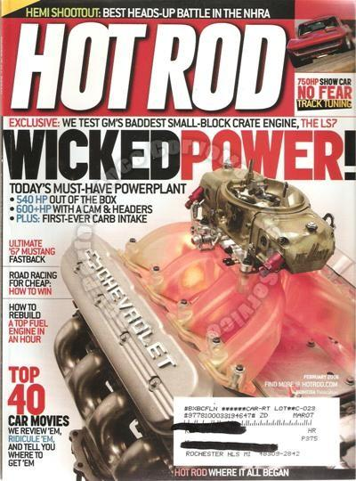 February 2006 Hot Rod Wicked Power Top 40 Car Movies Ultimate 1967 Mustang
