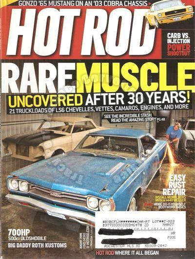 "August 2006 Hot Rod Detroit Autorama Ed ""Big Daddy"" Roth car collection Mustang"