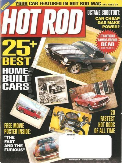 December 2001 Hot Rod Fast & Furious Movie Poster LT-1 Powered 1957 Vette