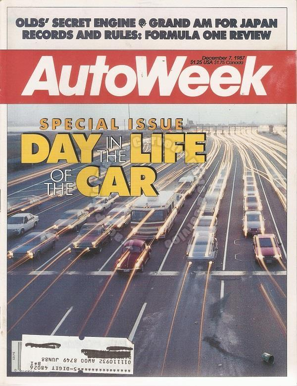 "December 7, 1987 Autoweek Straight-eight Dolomite ""A Day in the Life of the Car"""