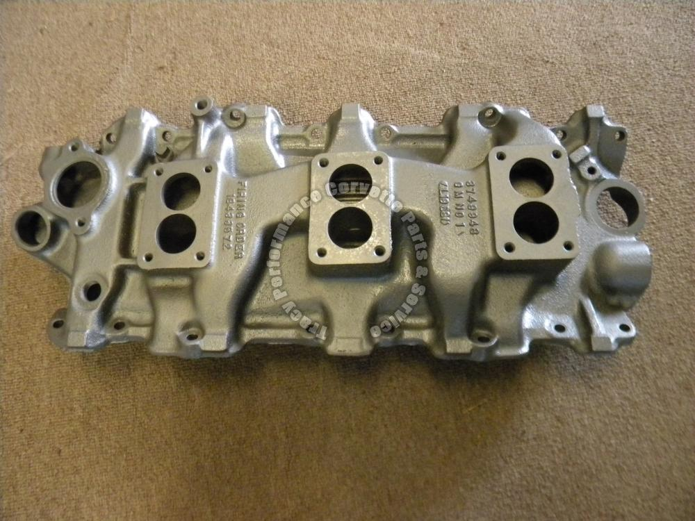 1958-1961 Chevy 348 Tri Power Intake Manifold 3749948 (3 X 2) Used Dated I 11 58