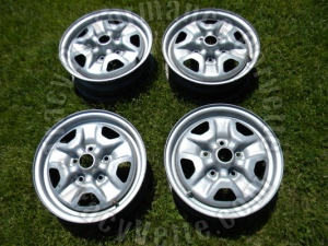 1979-84 Olds 14 x 5.5 In FWD 4.5 In BC Rally Wheels(4) 79 80 81 82 83 84