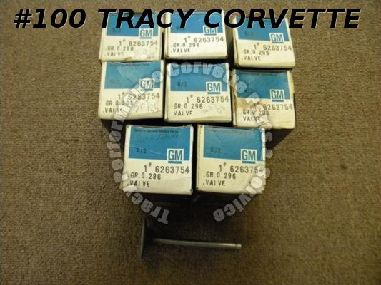 1965-1974 Chevy Corvette NOS 6263754 Big Block Intake Valves/8 66 67 68 69 70 71