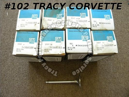 1964-1989 Corvette NOS 366285 SBC 2.05 Intake Valves 327 350 Chevrolet Set of 8