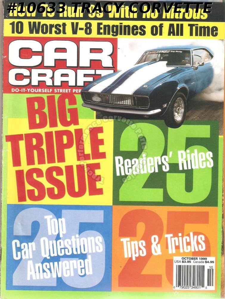 OCTOBER 1999 CAR CRAFT '85 MONTE CARLO BUICK 455 CHEVY 383 PONTIAC 455 OLDS 455