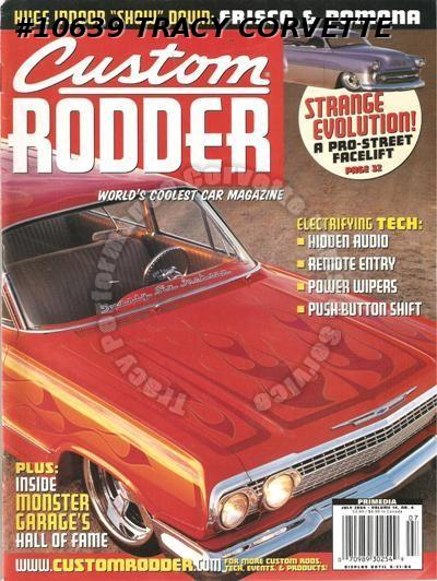 July 2004 Custom Rodder Neumann 63 Olds Kevin Coxs 65 Buick Grand Sport Riviera