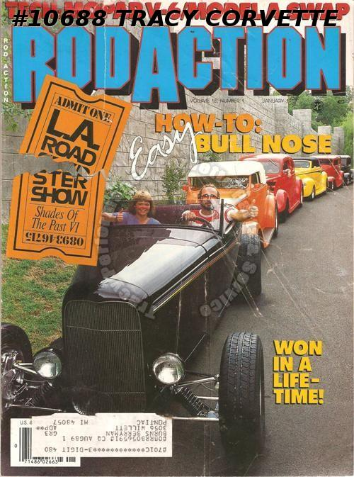 January 1989 Rod Action 1947 Chevy Panel Delivery 1932 Ford 30 Ford AA Panel 85B
