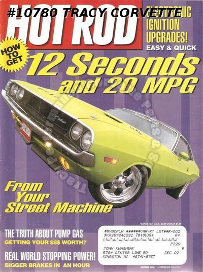 March 2001 Hot Rod GLH-S Charger Tommy's Titanic T Tony Nancy 70 El Camino