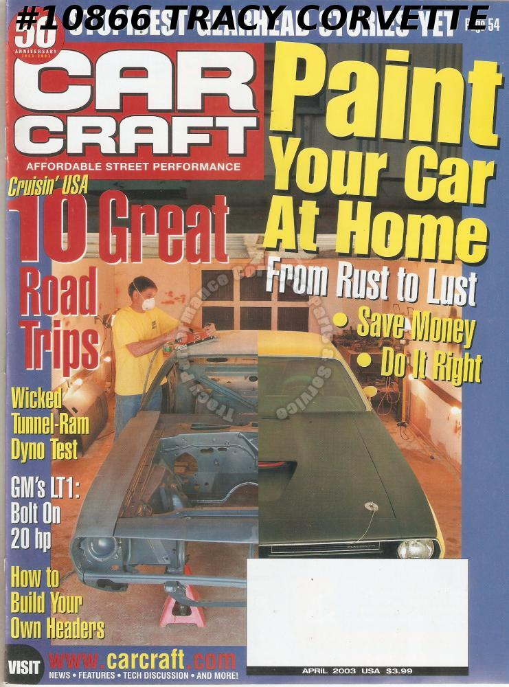APRIL 2003 CAR CRAFT ULTIMATE CHEVELLE REAREND 70 CUDA DR JEKYLL & MR HYDE