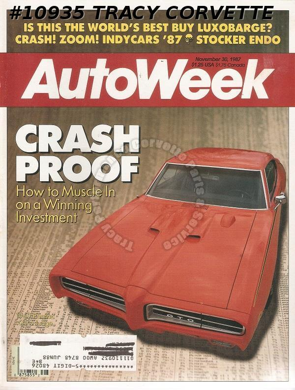 November 30, 1987 Autoweek Emerson Fittipaldi American Muscle Cars Continental