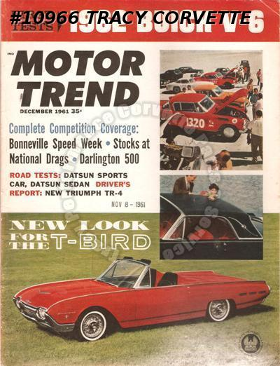 September 1961 Motor Trend Triumph TR-4 Buick Special V-6 Chevy II Bonneville