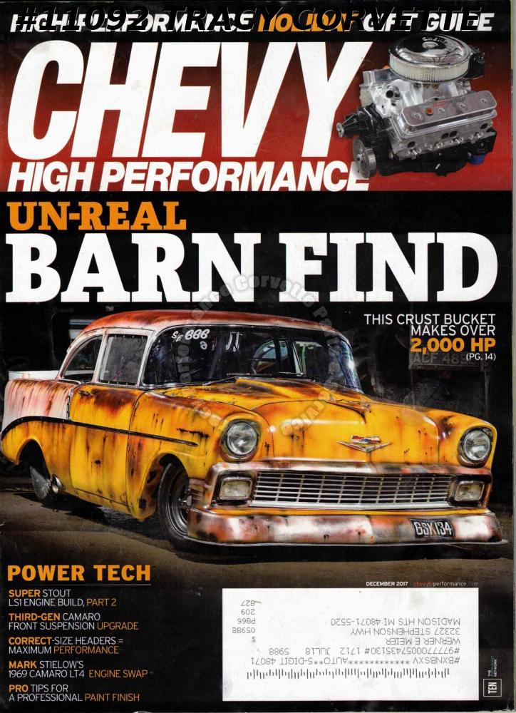 December 2017 Chevy High Performance Andy Bond 1956 Chevy Un-Real Barn Find