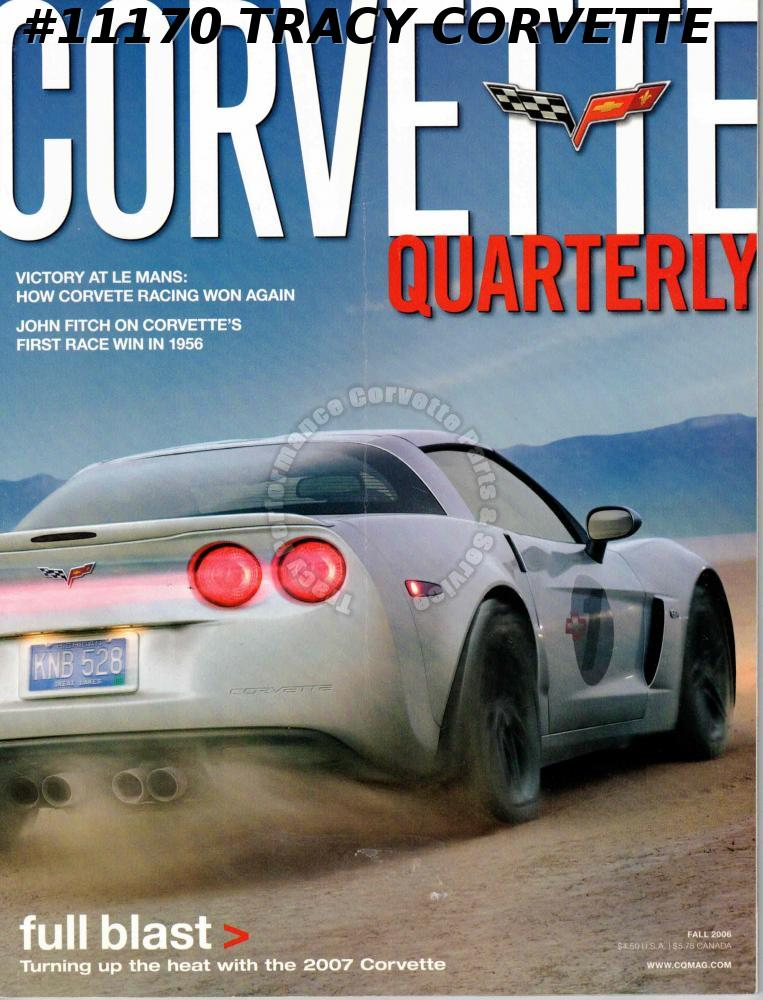 Fall 2006 Corvette Quarterly Corvette Racing Le Mans John Fitch First Win 1956