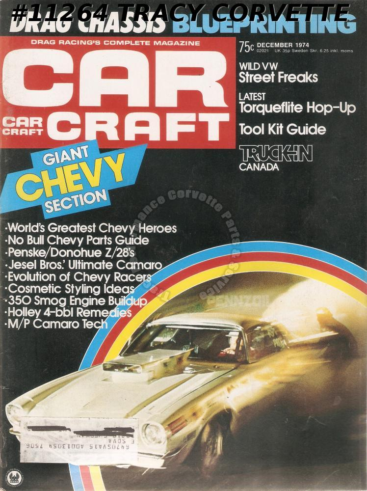 NOVEMBER 1974 CAR CRAFT 20TH U.S. NATIONALS 1974 ALL-STAR TEAM INDY EXPOSURE