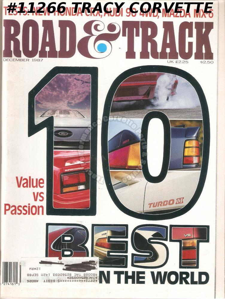 December 1987 ROAD & TRACK Hungarian Austrian Grand Prix Charlotte World 600