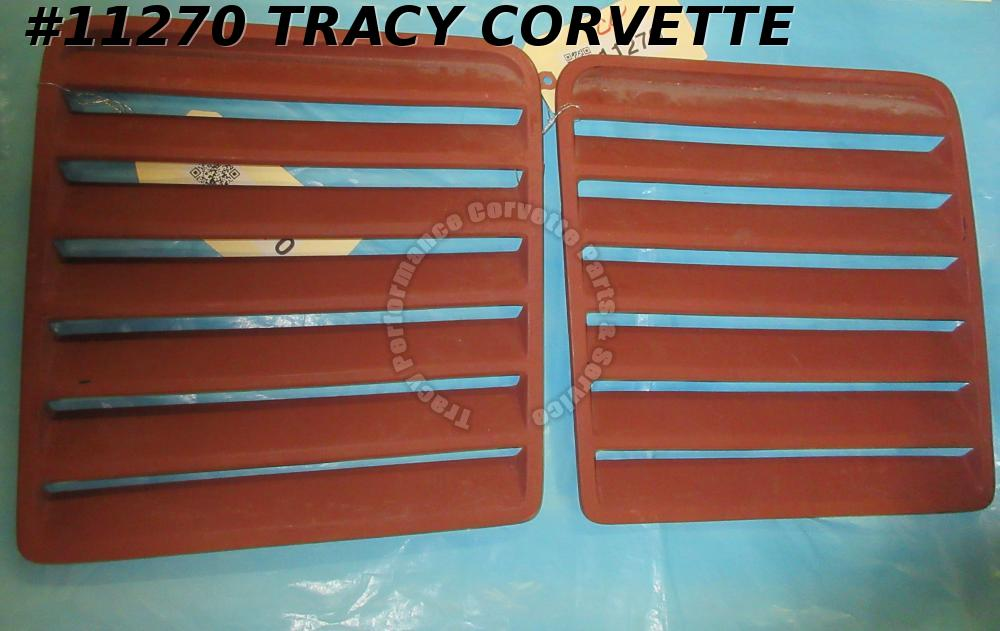 1984-1996 Corvette Hood Louvers Collector Series  Rigid Plastic   Pair
