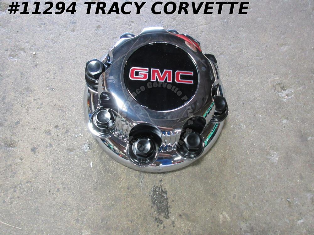 2016-2018 GMC Very Slightly Used 8 Bolt Wheel Hubcap, Center Cap, w/Lug Covers/1
