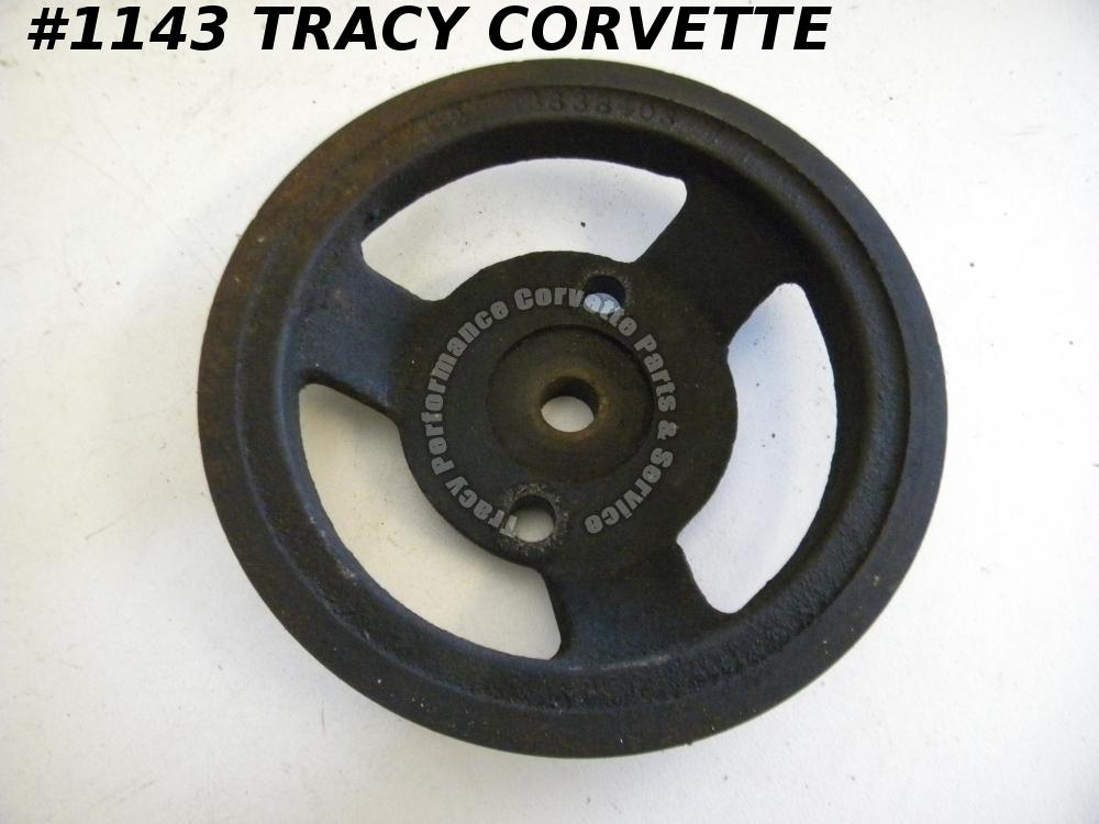 1965-66 Corvair Used 3838403 Compressor Drive Pulley Cast Iron Air Conditioning