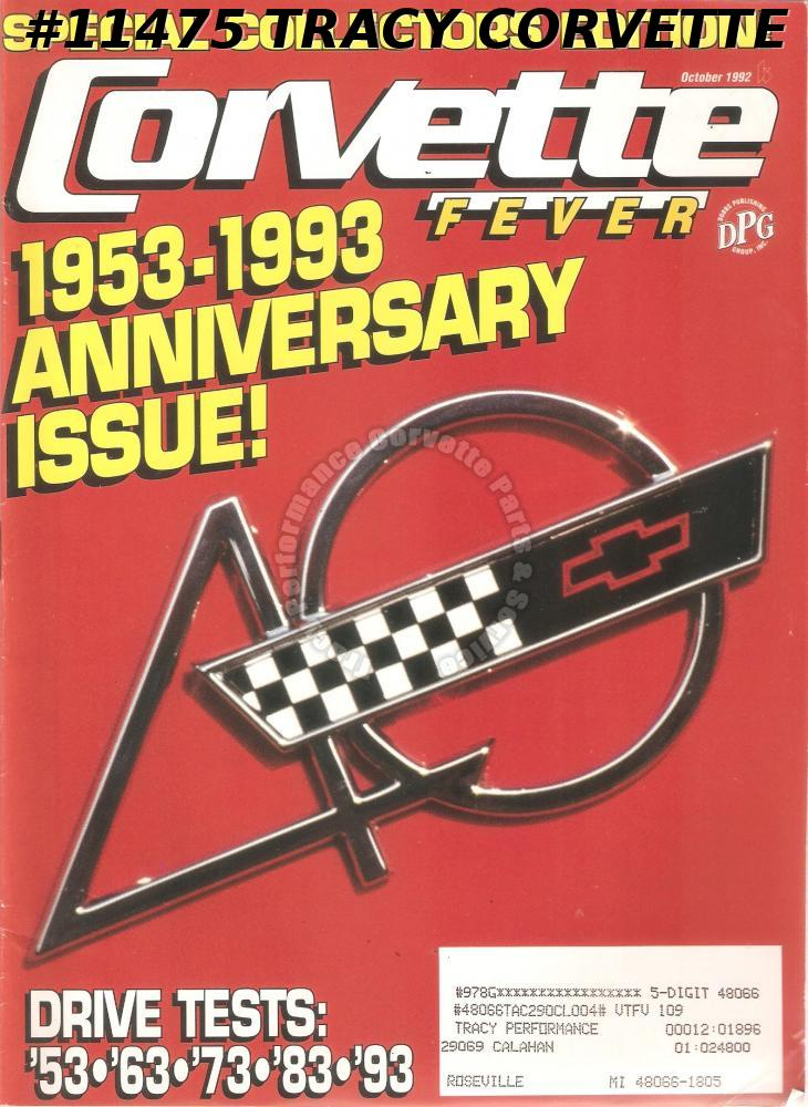 October 1992 CORVETTE FEVER 1953-1993 40 Years of Corvettes Collectors Edition