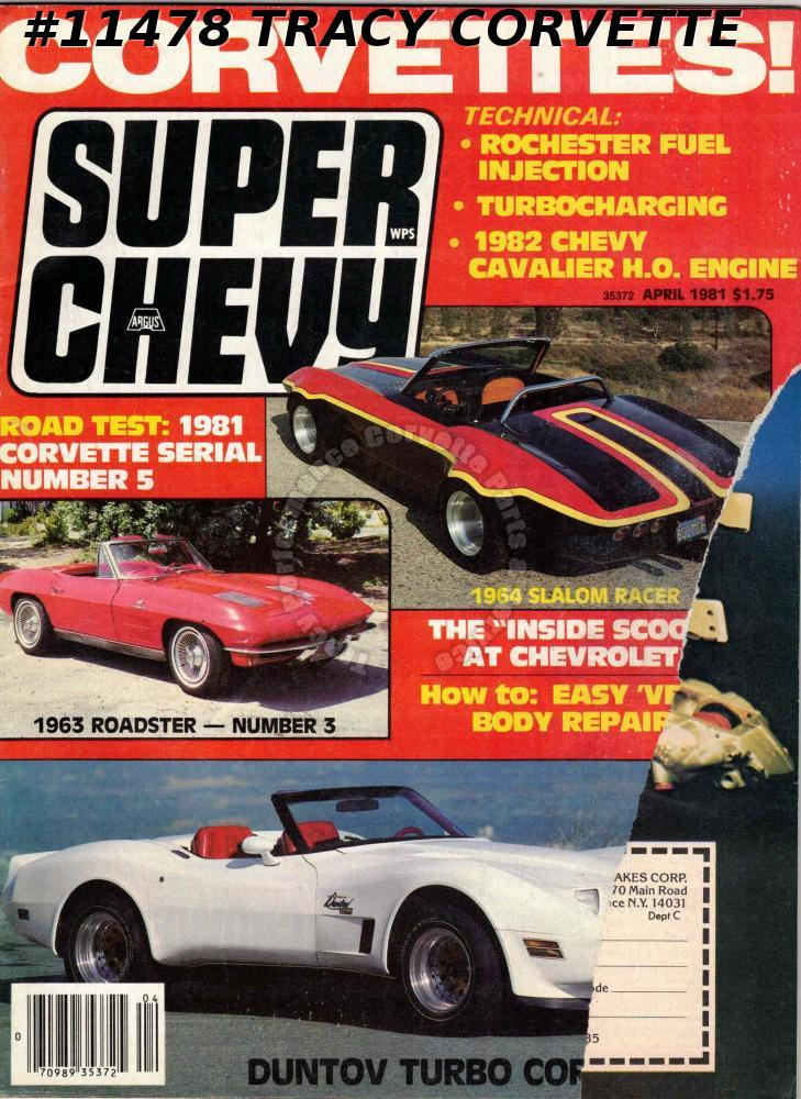92903034 April 1981 SUPER CHEVY Duntov Turbo Vette Johnny Mitchell 1960 Mike Melin  1964