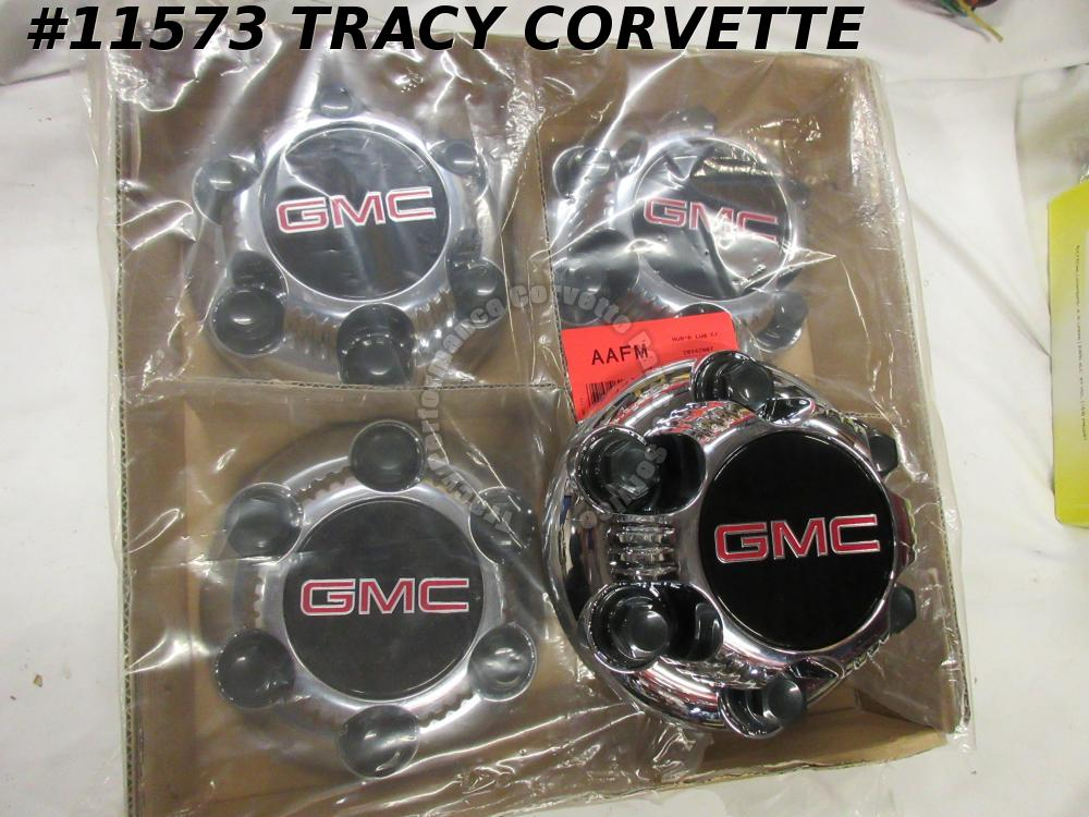 1999-2013 GMC New 22837059 Chrome 6 Bolt Wheel Hubcap Center Cap w/Lug Covers/4