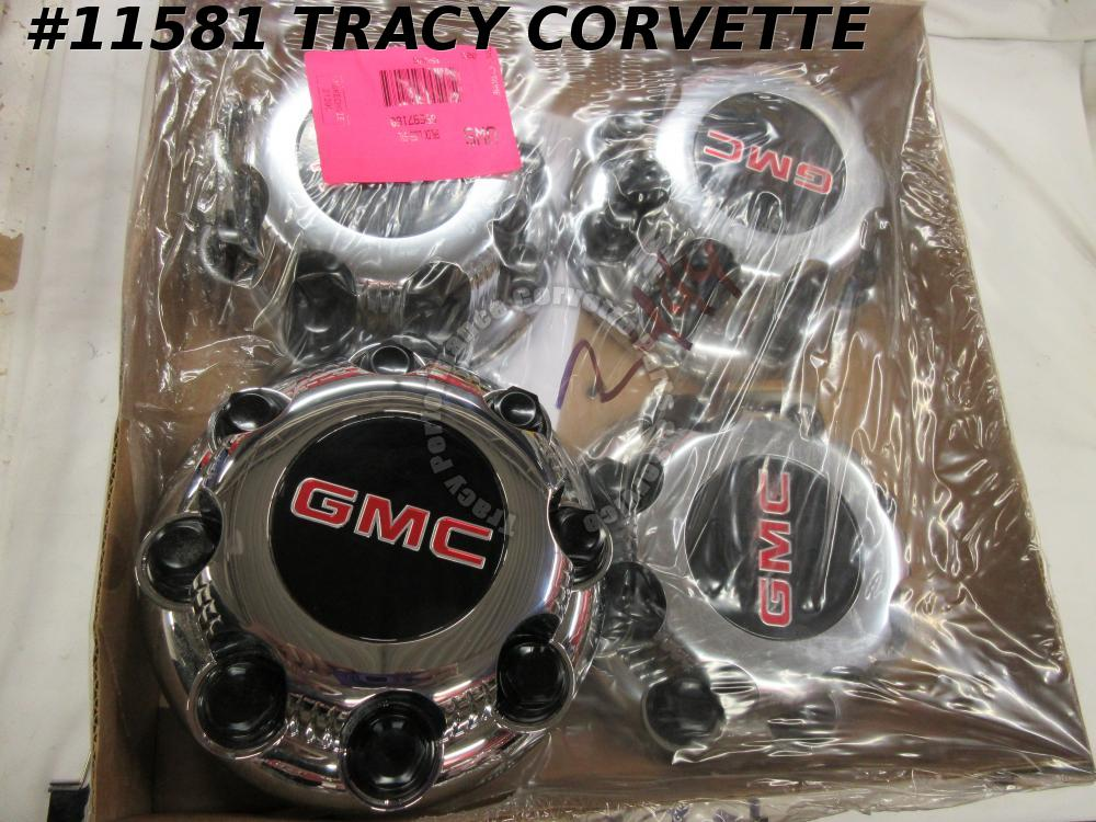 1999-2017 GMC New 9597159 Chrome 8 Bolt Wheel Hubcap Center Cap w/Lug Covers/4