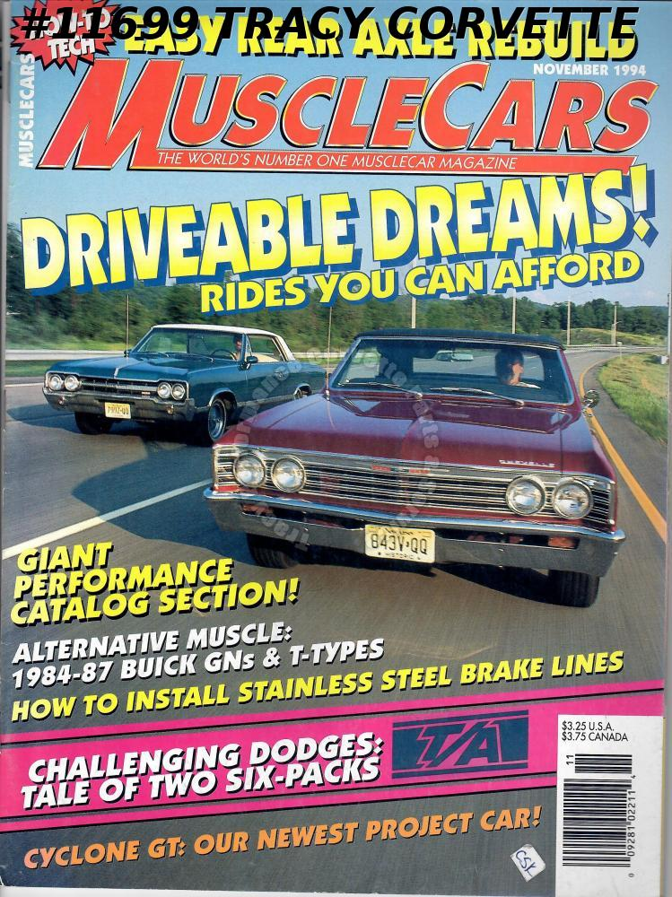 November 1994 Muscle Cars Two 340 1970 Challenger T/As 84-87 Buick GNs & T-Types