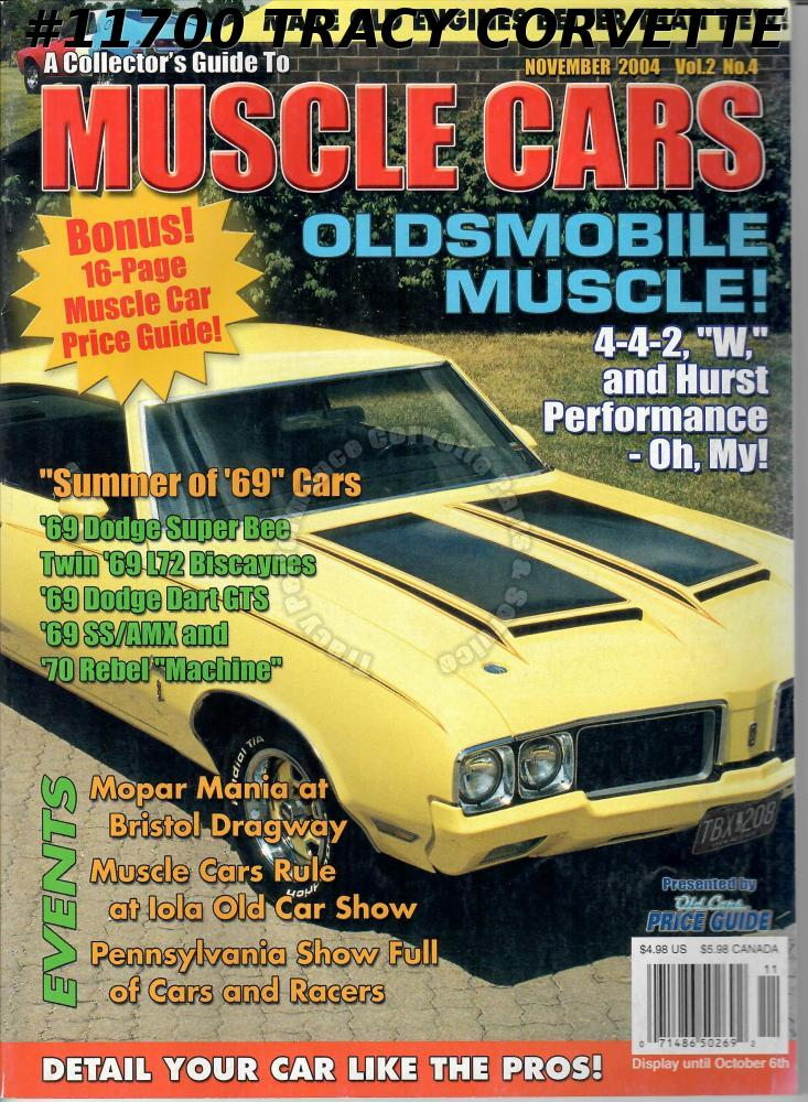November 2004 COLLECTORS GUIDE TO MUSCLE CARS Oldsmobile 442 Bristol Dragway