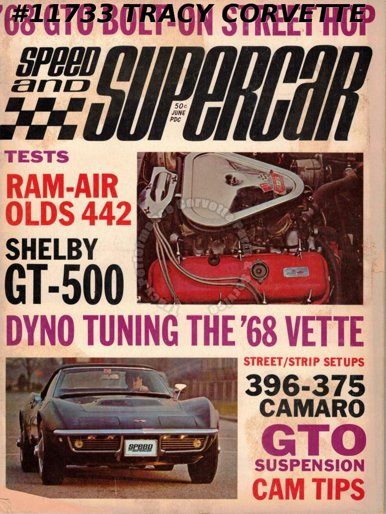 June 1968 Speed and Supercar Shelby GT-500 396-375 Camaro 68 GTO Bolt-On Street