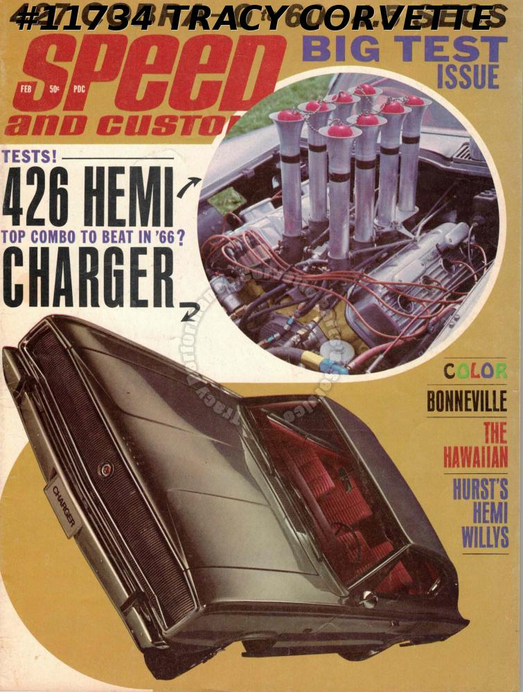February 1966 Speed and Custom NHRA Nationals 427 Shelby Cobra 426 Dodge Charger