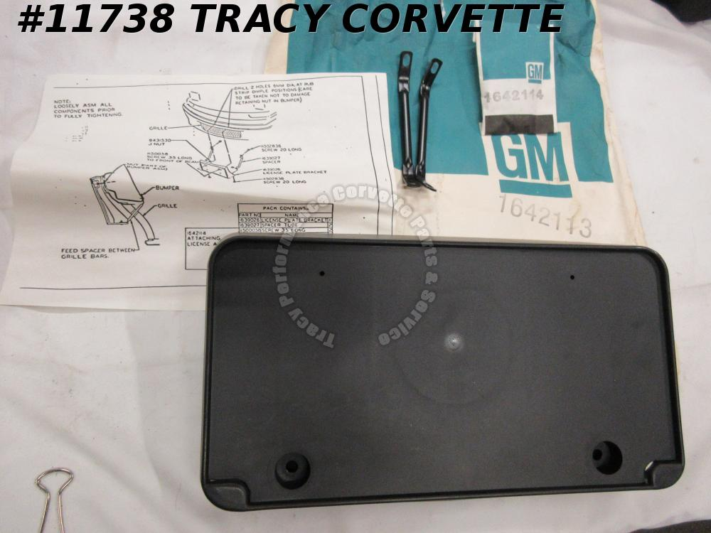 1988-91 Buick Reatta NOS 1642114 1639026 Fr License Plate Assembly 88 89 90 1991